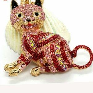 Kitty/Cat Necklace.  Betsey Johnson